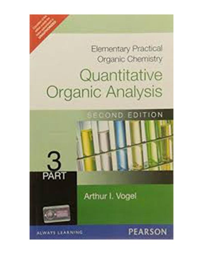 Elementary Practical Organic Chemistry Quantitative Analysis Part 3 2 E Pb