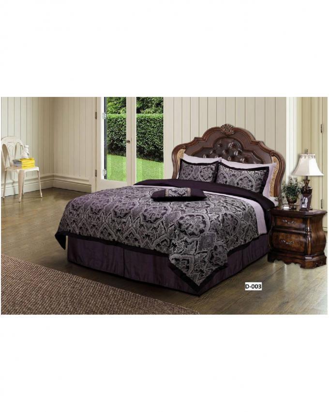Purple Jacquard Comforter Set - 6Pcs