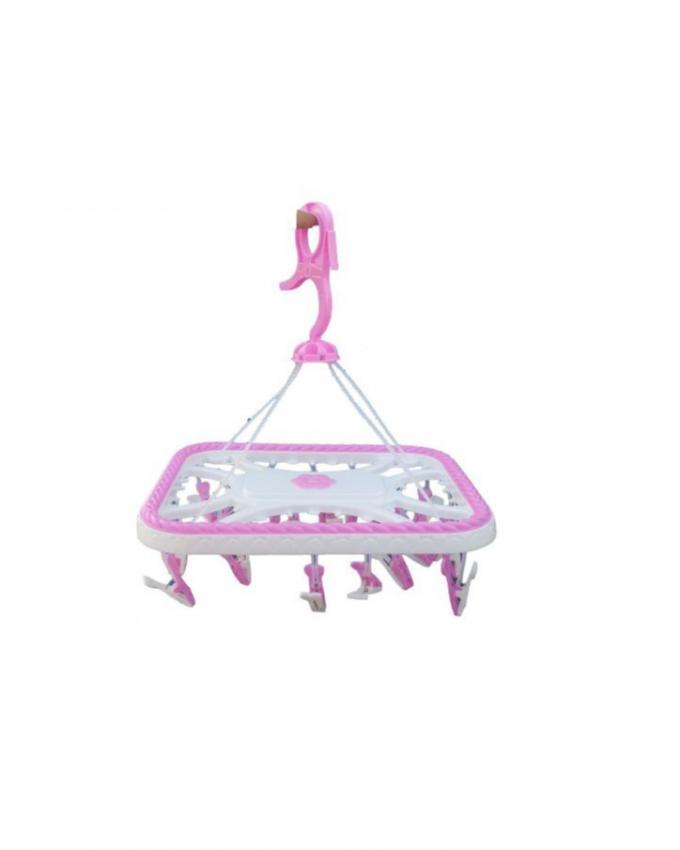 Baby Cloth Hanger - Pink & White