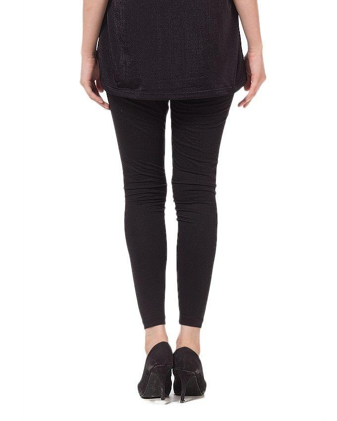 Black - Cotton - Tights For Women