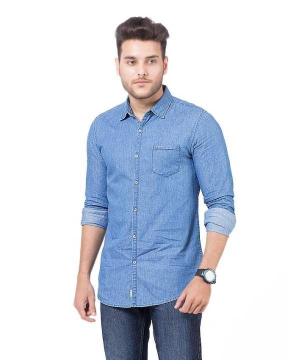Super Light Weight Summer Denim Shirt For Men SHIRT B07