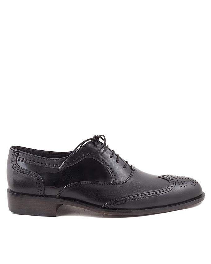Black Leather Lace-Ups for Men