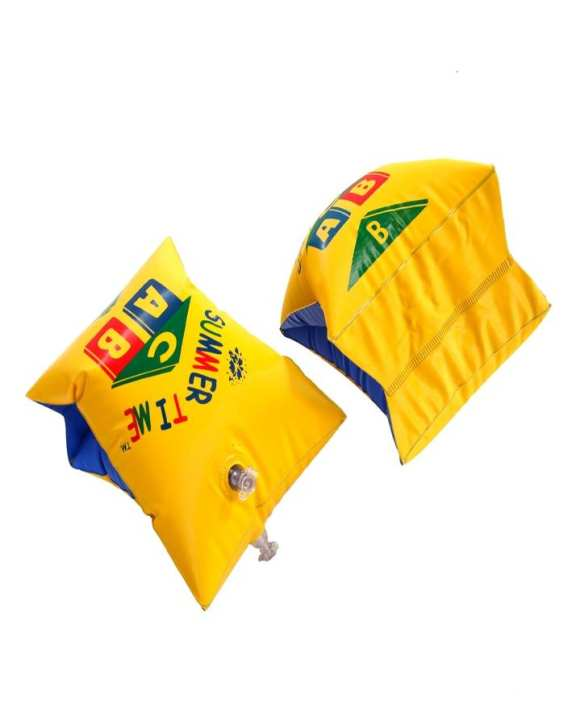 Safety Water Wings Inflatable Swimming Arm Bands Floats Pair - Yellow