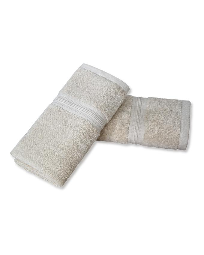Pack of 2 - Hand Towels - Beige