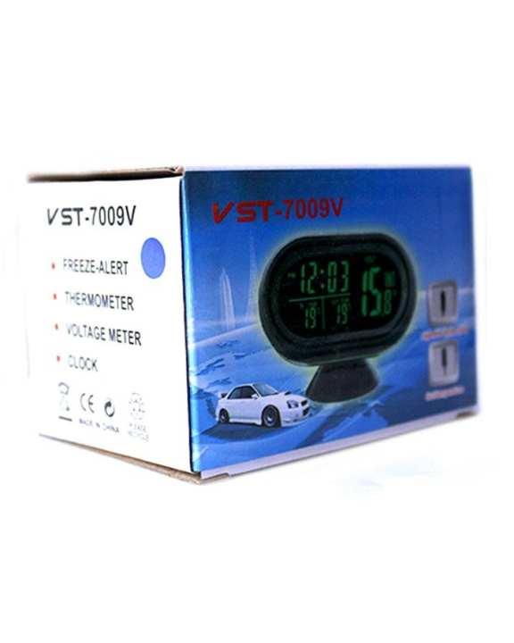 Digital Car Clock - VST7009v - Black
