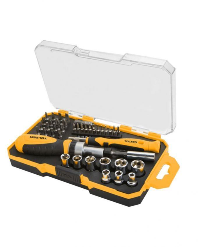 Bits & Socket Set - 42 Pcs - Yellow & Black