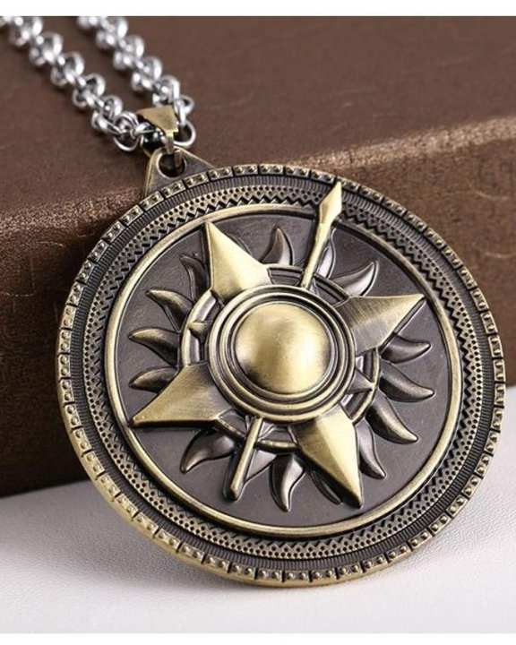 Game Of Thrones Sun Pendant-Metallic