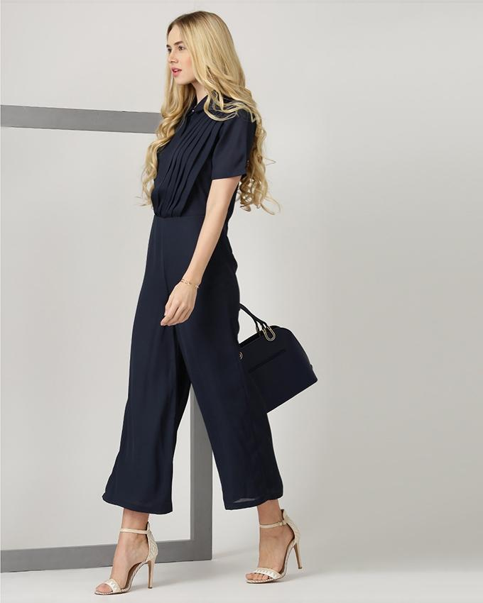 Navy Blue Jumpsuit For Women - SI-308