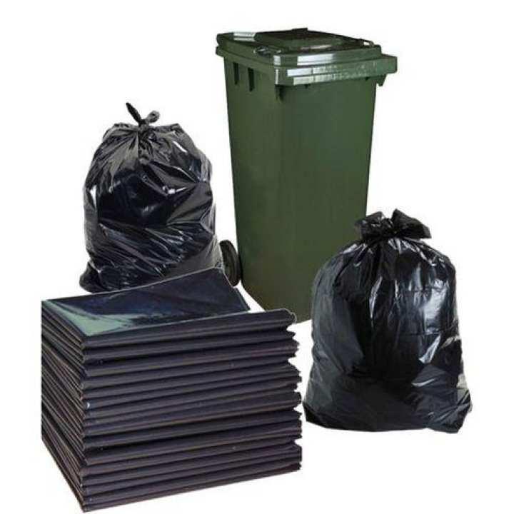 Garbage Bags For Dust Bins - Black - 1 Kg 30*50