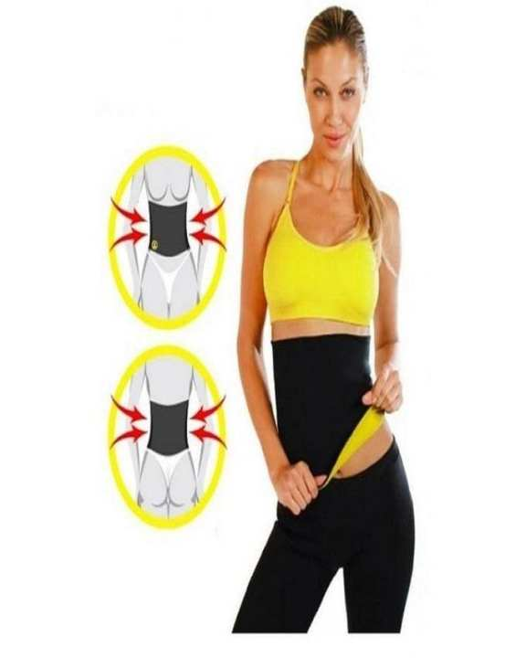 TL Sports Bar Hot Slim Shaper Waist Belt - Yellow & Black