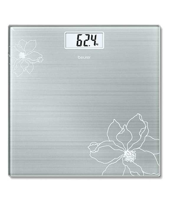 GS 10 - Glass Bathroom Scale - Silver
