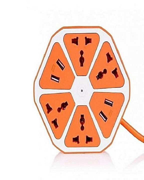 Multi Power Plug Extension - 4 Power Sockets & 4 Usb Ports