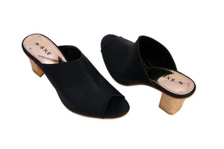 Black Block Heel For Women
