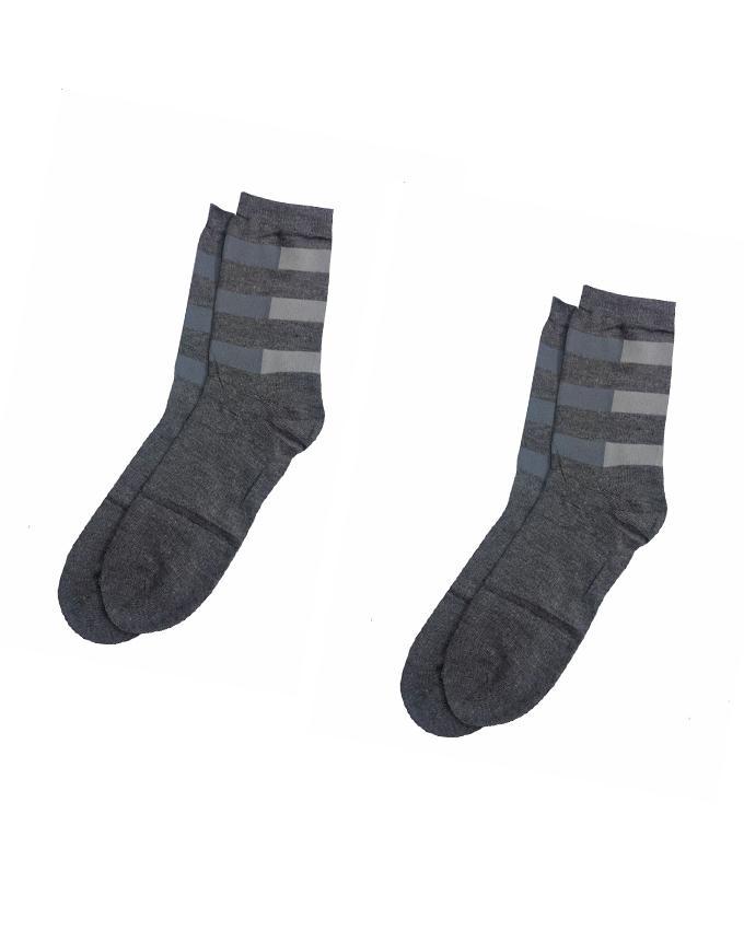 Pack of 2 - Dark Grey Cotton Socks for Men