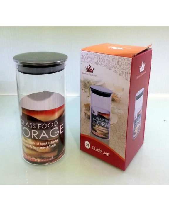 Air Tight Glass Jar With Ss Lid-Small