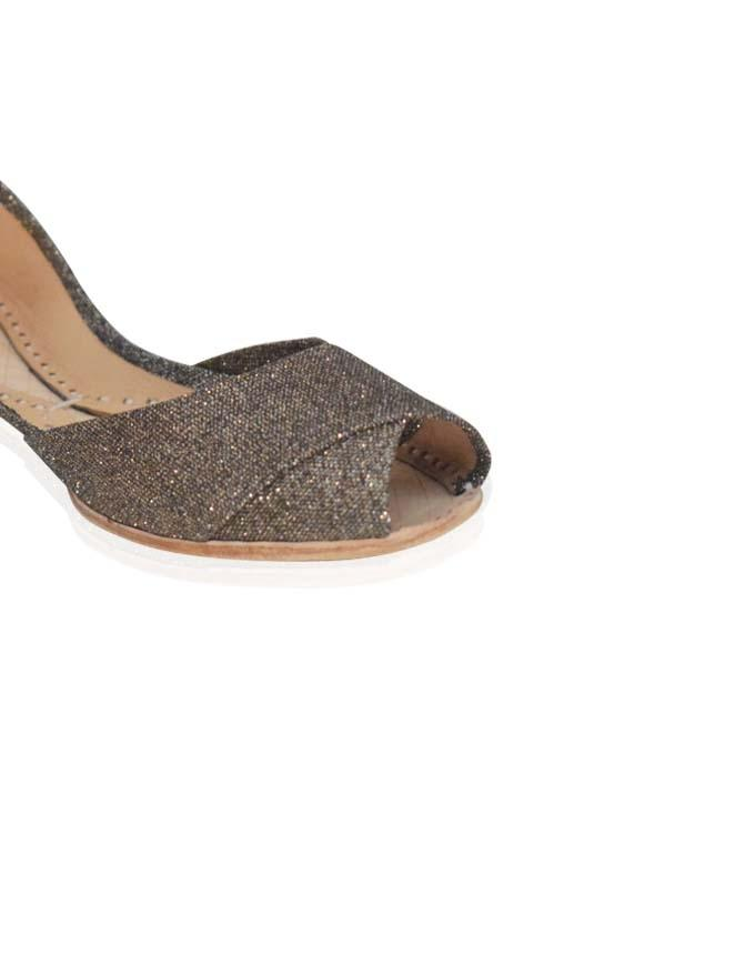 Brown Shimmering Leather Khussa for Women