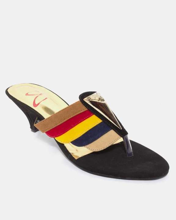 Red & Yellow Synthetic Sandals for Women - Ws-49