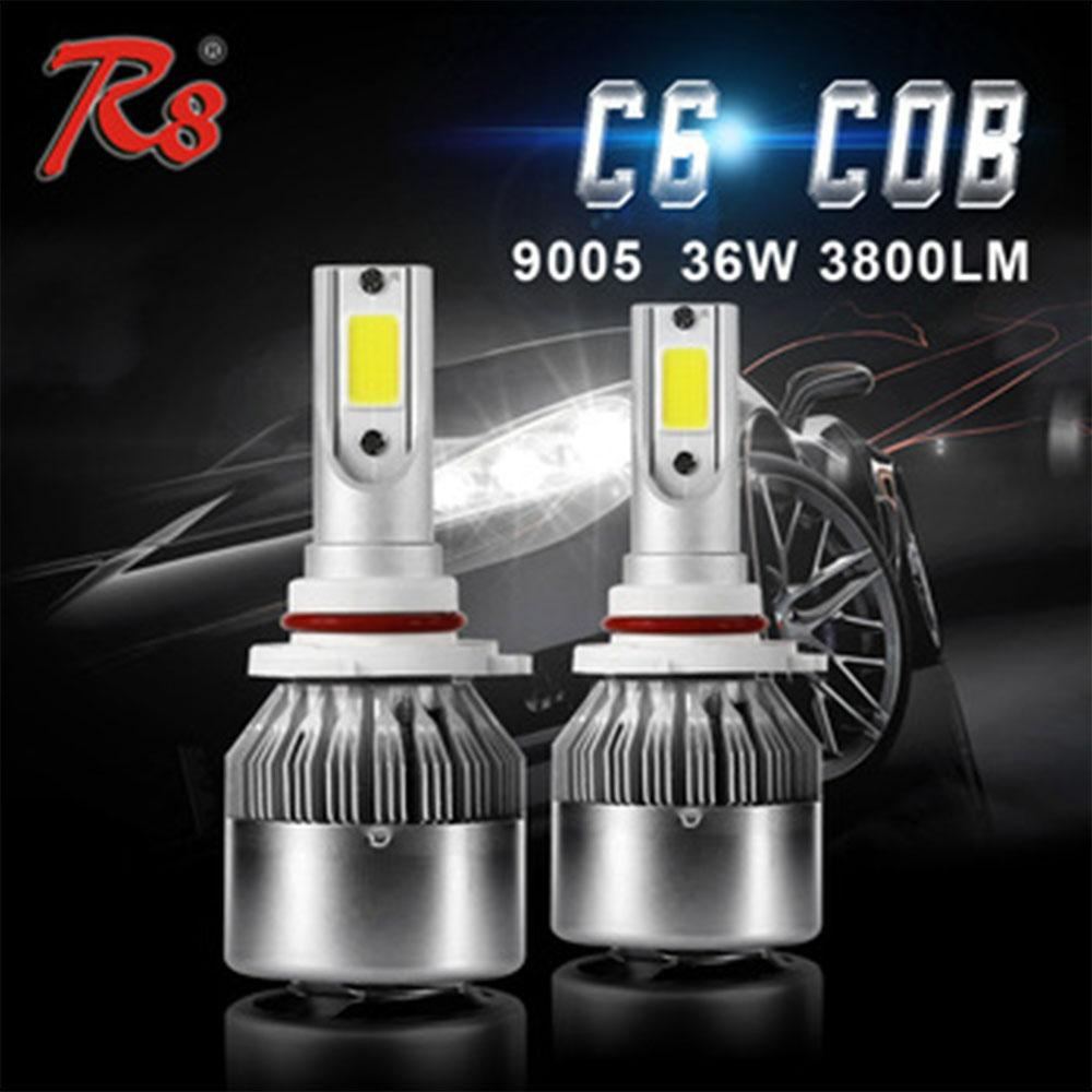 C6 Led Headlight Bulbs For Any Car And Bike H11 36W / 3800LM
