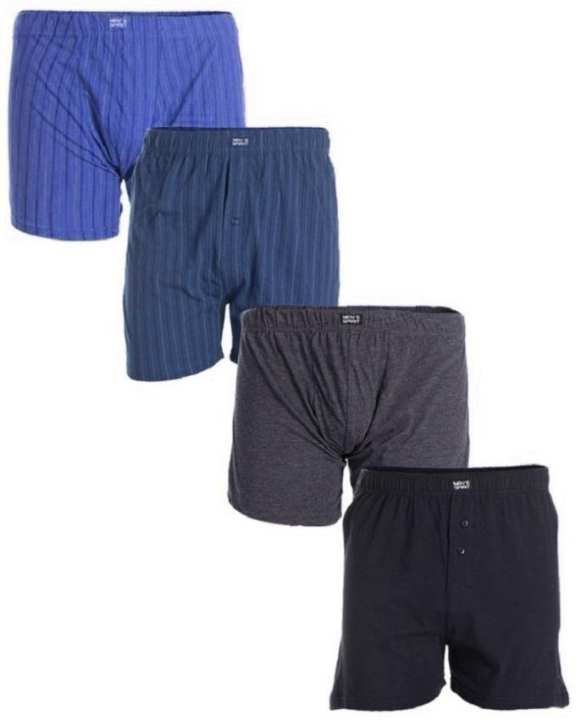 Pack of 4 - Multicolor Cotton Jersey Boxer Shorts for Men