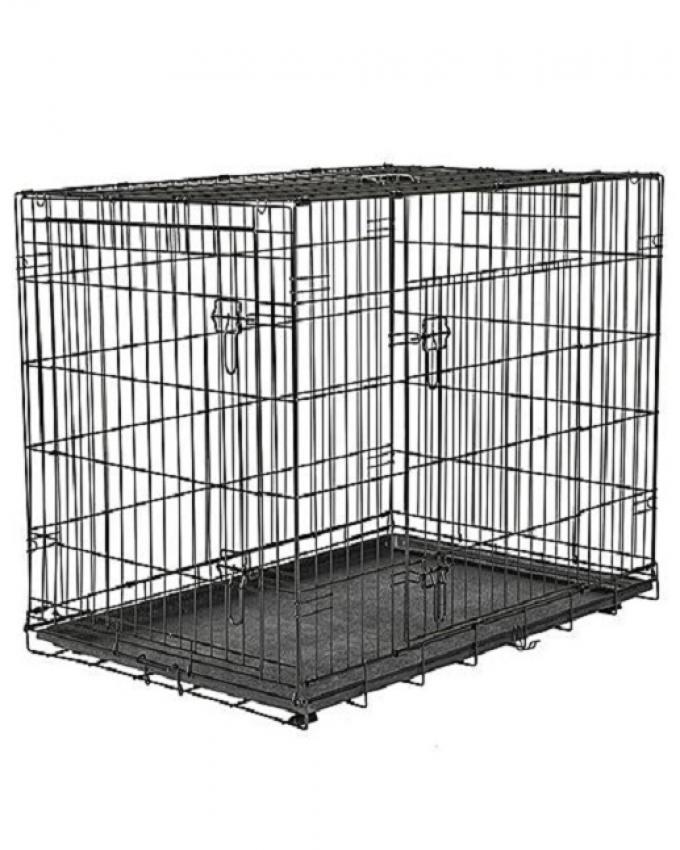 Pet Folding Cage Extra Large - Black