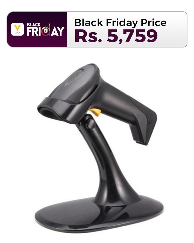 Barcode Scanner With Stand - ABS-9591 - Black