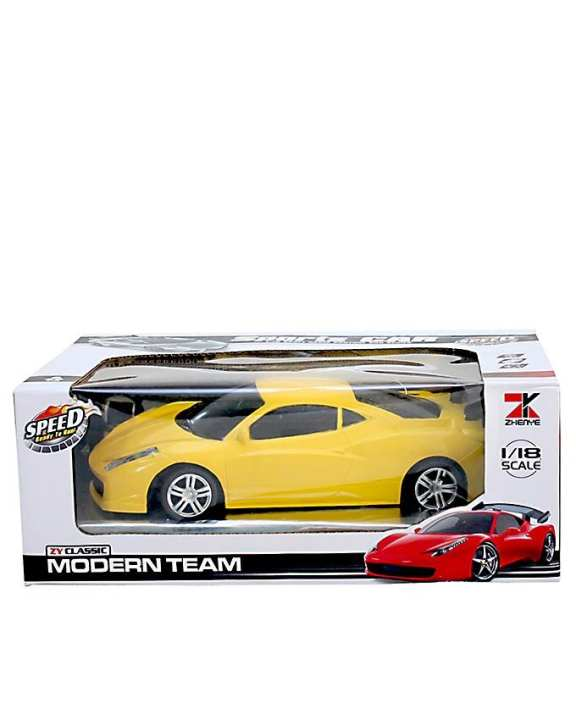 RC Ferrari Car - Yellow