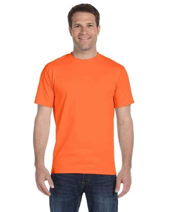 Orange Cotton T-Shirt for Men