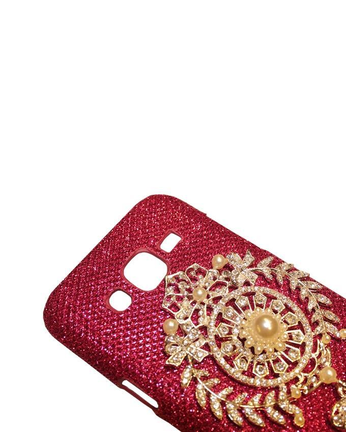 Xocorol Luxury Diamond Case For Samsung J510 - Red