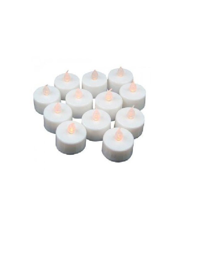 Pack of 12 - LED Tealight Candles