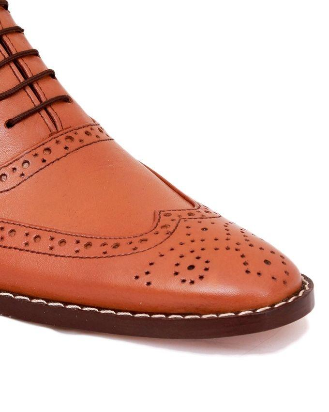 C-101363-Mustard- Brown Full Brogue Shoe