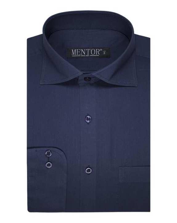 Mentor Blue Plain Full Sleeve Dress Shirt