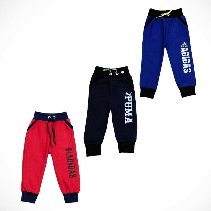 Red, Blue, Black Trousers for Kids Warm Blend Casual Multi Colors Winter Special