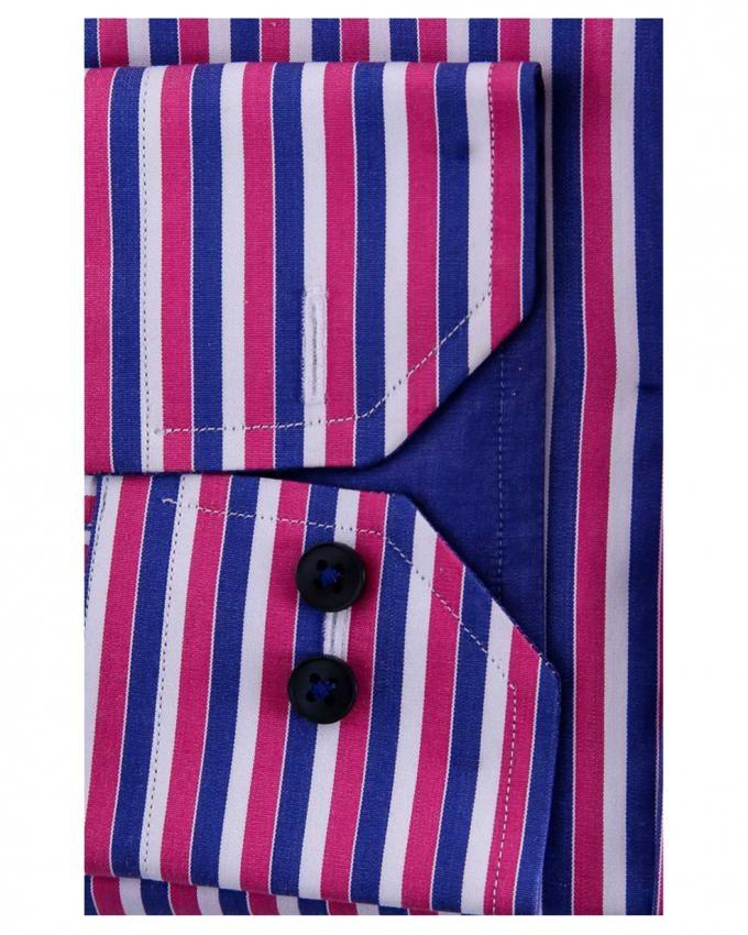 Pink & Blue Pure Egyptian Cotton Striped Shirt for Men