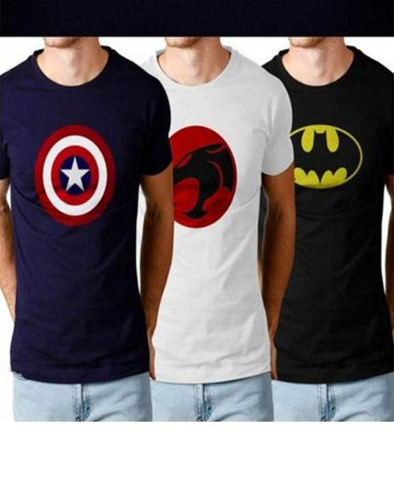 Pack of 3 - Super Heroes Round Neck T-shirts