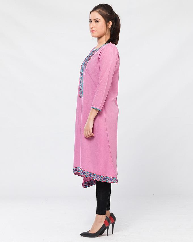 Pink Lawn Kurta for Women