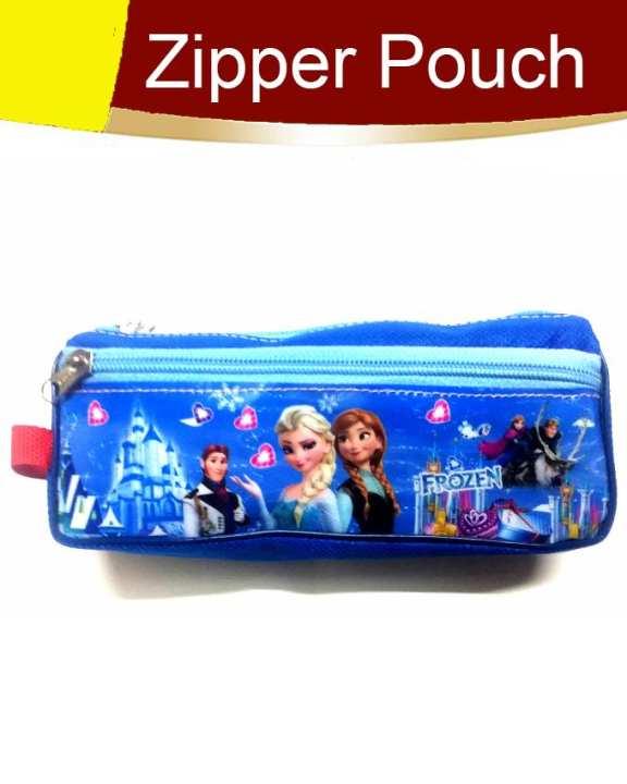 Pack of 1 Fancy Zipper Pouch Blue