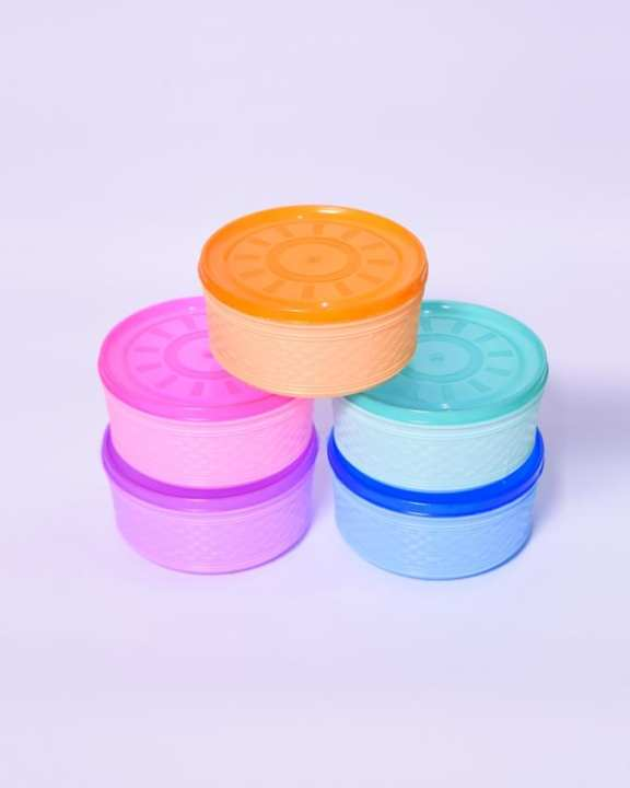 Food Storage Containers With Colourful Lids