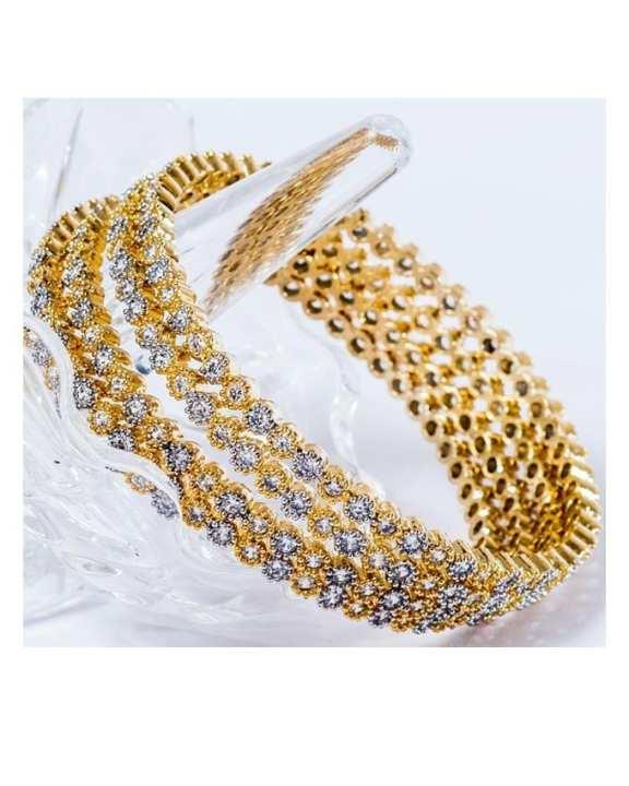 Pack of 4 - 18K Golden Metal Bangles Set For Women - Size 2
