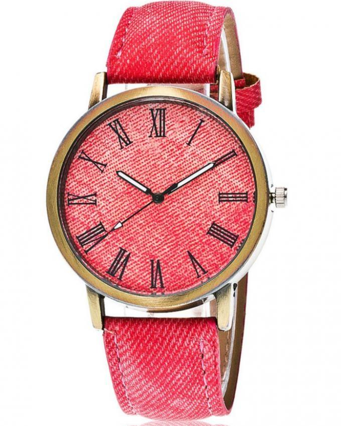 Red Leather Watch for Women