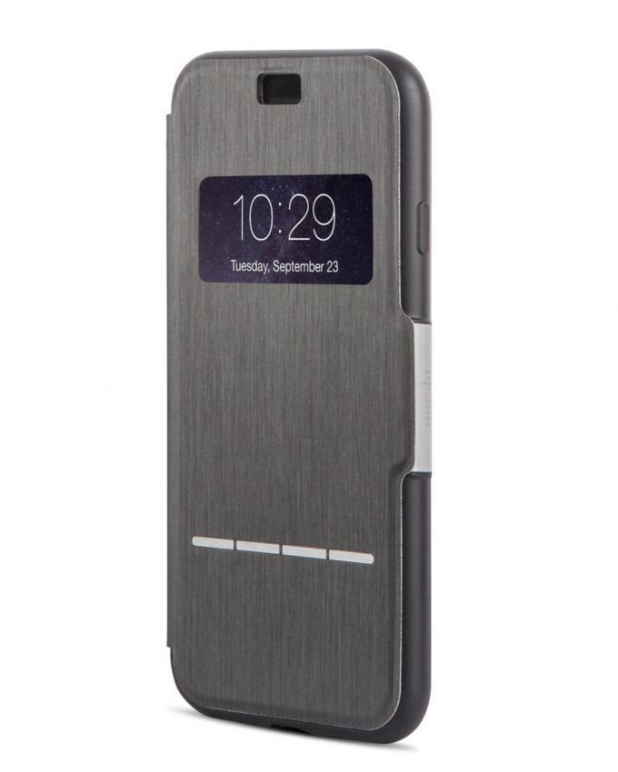 Touch Sensitive Flip Case for iPhone 7Plus - Charcoal Black