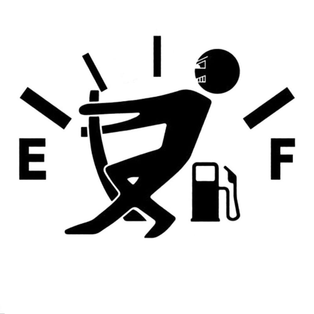 Funny Car Stickers High Gas Consumption Decal Fuel Gage Empty Stickers Vinyl JDM Car Stickers Car