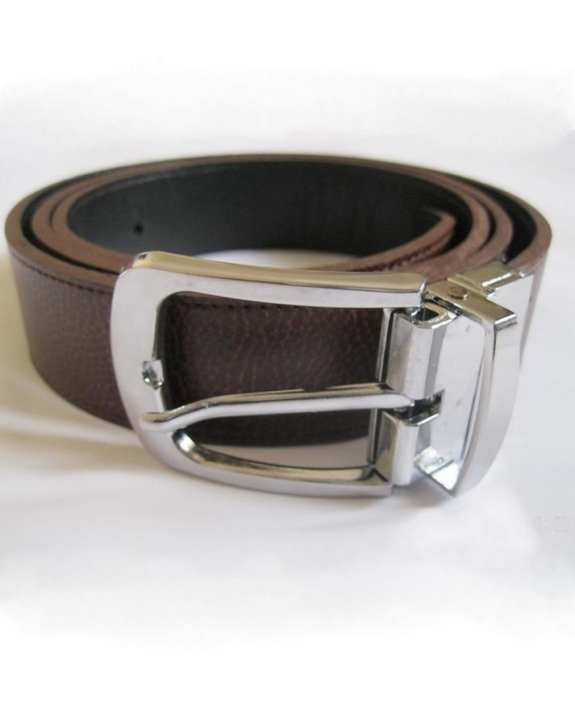 Black & Brown Leather Convertible Belt for Men - TTS007