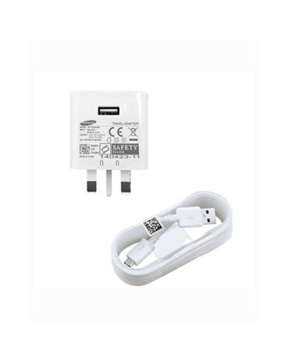 Samsung Fast Charger With USB Cable Travel Adapter for Samsung S7 & S7 Edge - White