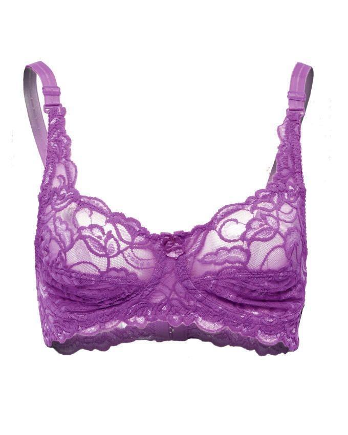 Purple Lace Sensation Bra for Women