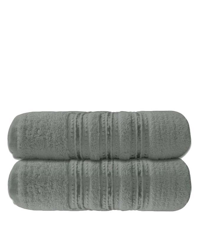Pack of 2 - Cotton Bath Towel - Grey