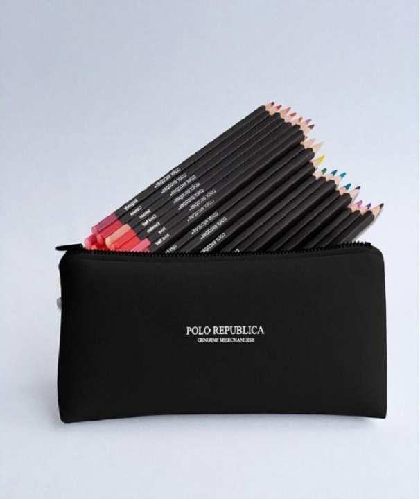 Polo Republica Compact Cosmetics Bag - Black