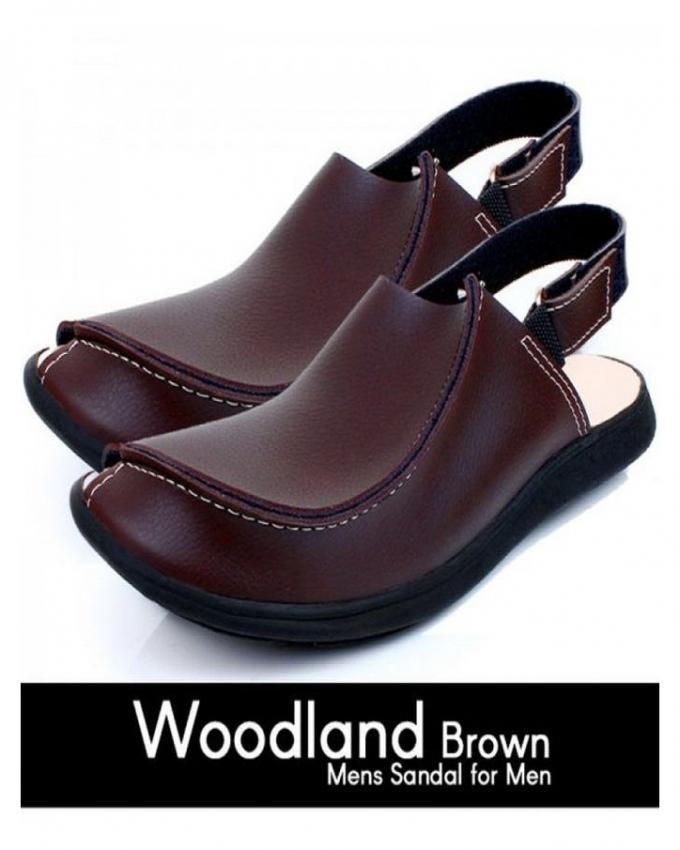 Pack of 2 - Brown & Black Traditional Peshawari Sandals for Men