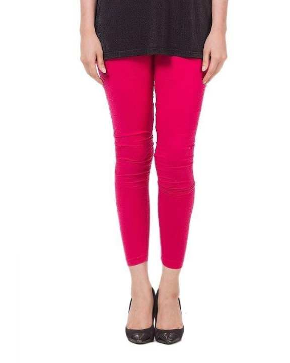Shocking Pink Cotton Tights For Women