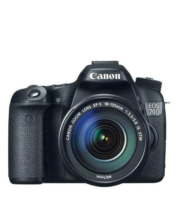 EOS 70D - 20.2 MP - 18-135mm - DSLR Camera - Black
