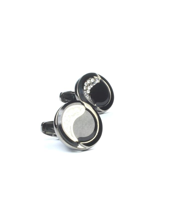 Black Alloy Cufflinks for Men - CU-0174